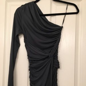 Dark gray XS Tart Collection one shoulder dress